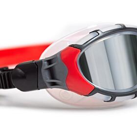 Zoggs Predator Flex Titanium Gogle L, frame/red/mirror